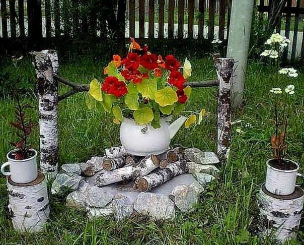 Интересная идея цветника
