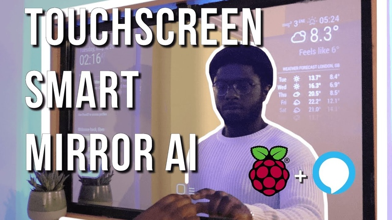 Smart Mirror Touchscreen with Face ID using Raspberry Pi 4 Full Tutorial
