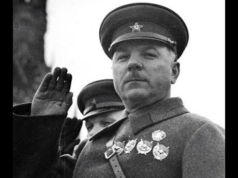 Выступление Климента Ефремовича Ворошилова на параде 7 ноября 1937 года