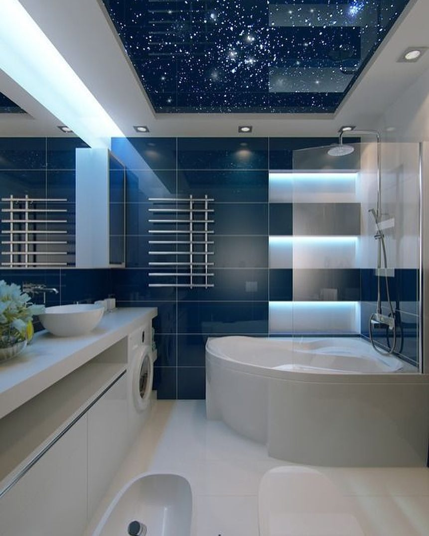 Шикарный дизайн ванной