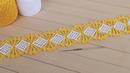 ЛЕНТОЧНОЕ КРУЖЕВО вязание крючком МАСТЕР-КЛАСС Crochet Tape Lace Tutorial