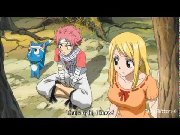 Fairy Tail Funny Moment Lucy's Stomach Episode 122
