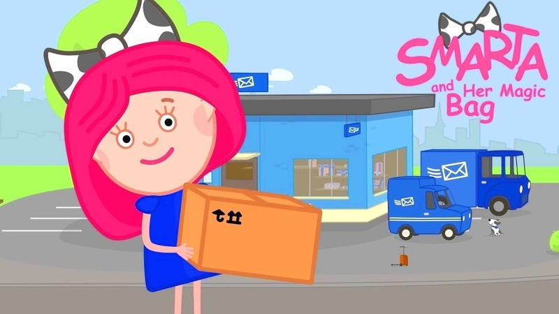 Educational cartoons for babies Kids learning with Smarta and her Magic Bag cartoon