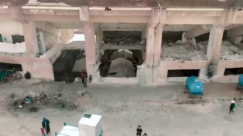 Necro tv беженцы в Идлибе Сирия живут под развалинами стадиона