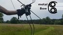 Metal Bow out of hay rake teeth - simple weapons