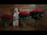 101 розу купить в Минске - Доставка цветов Dolinaroz.by