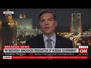 BREAKING NEWS, Prime Minister Dmitry Medvedev is out...