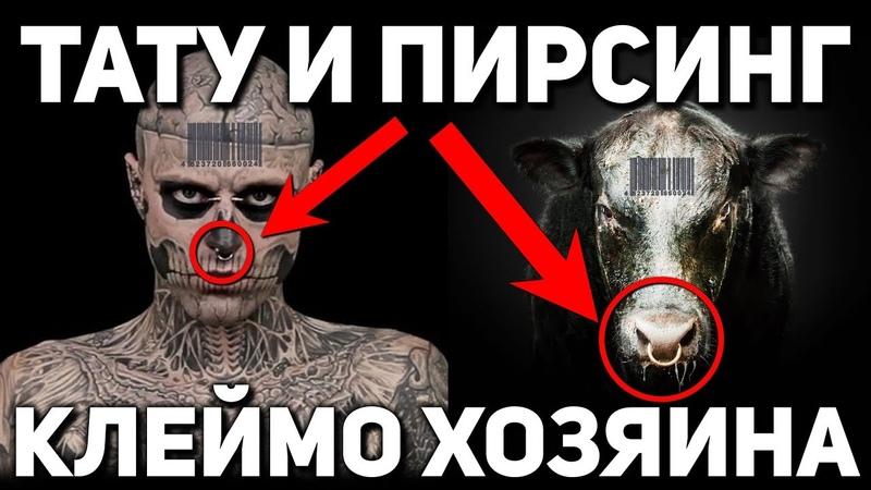 Зачем хозяева метят людей татуировками и пирсингом Мистический смысл клейма на теле