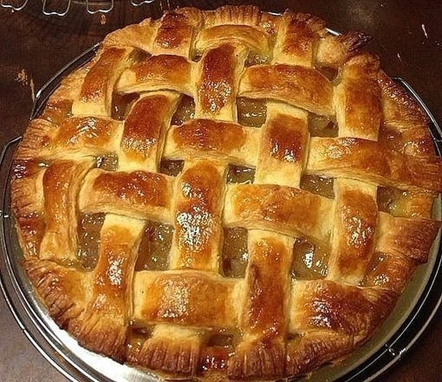 """Пирог """"Корзинка с персиками""""/ Просто, быстро, но так вкусно!"""